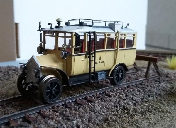 Schienenomnibus der sächs. Staatsbahn - Fertigmodell in H0; 1:87